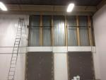 Warehouse Wall Progress