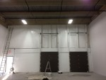 Warehouse wall complete